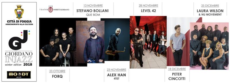 giordano in jazz winter 2018 artisti